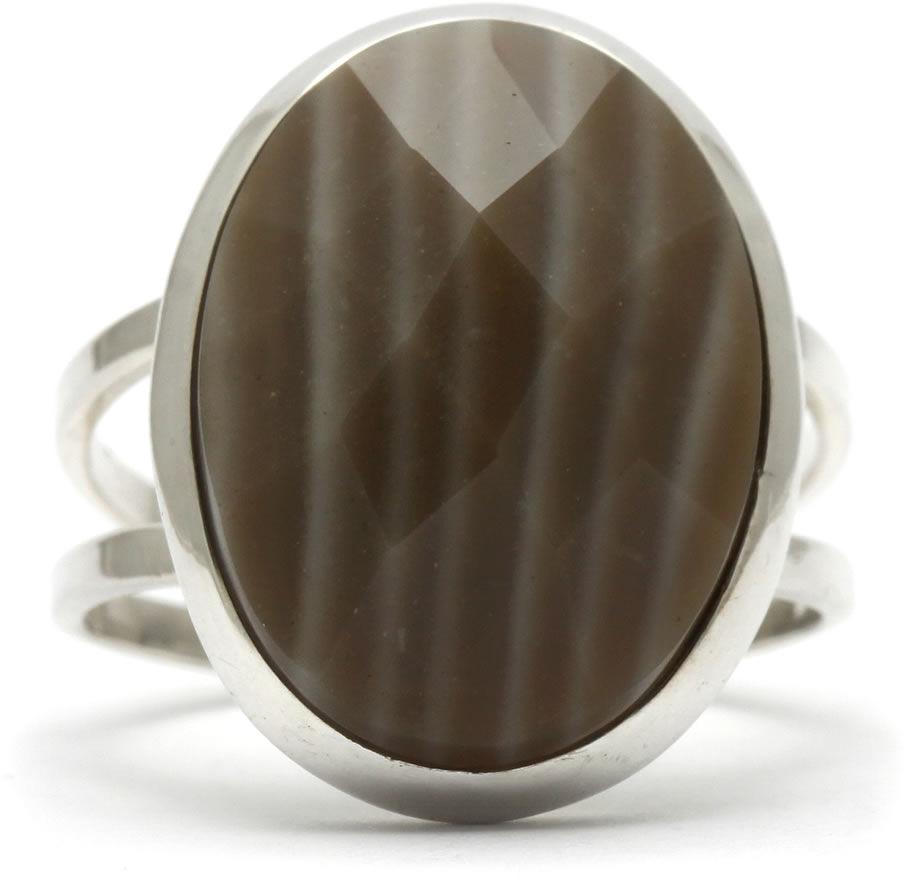 Kuźnia Srebra - Pierścionek srebrny, rozm. 14, Agat Botswański, 4g, model