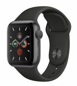 Apple Watch Series 5 40mm Srebrne aluminium z białym paskiem sportowym MWX42WB/A