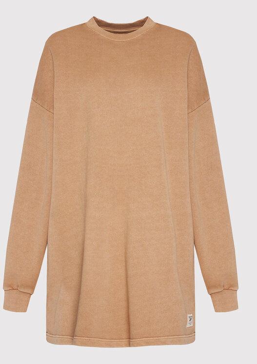 Sukienka dzianinowa Classics Natural Dye H11200 Brązowy Oversize