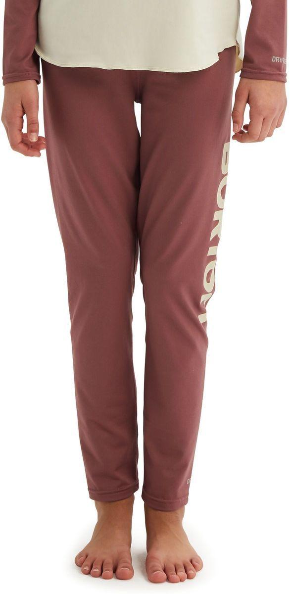 bielizna termoaktywna dziecięca - spodnie BURTON YOUTH MIDWEIGHT PT Rose Brown