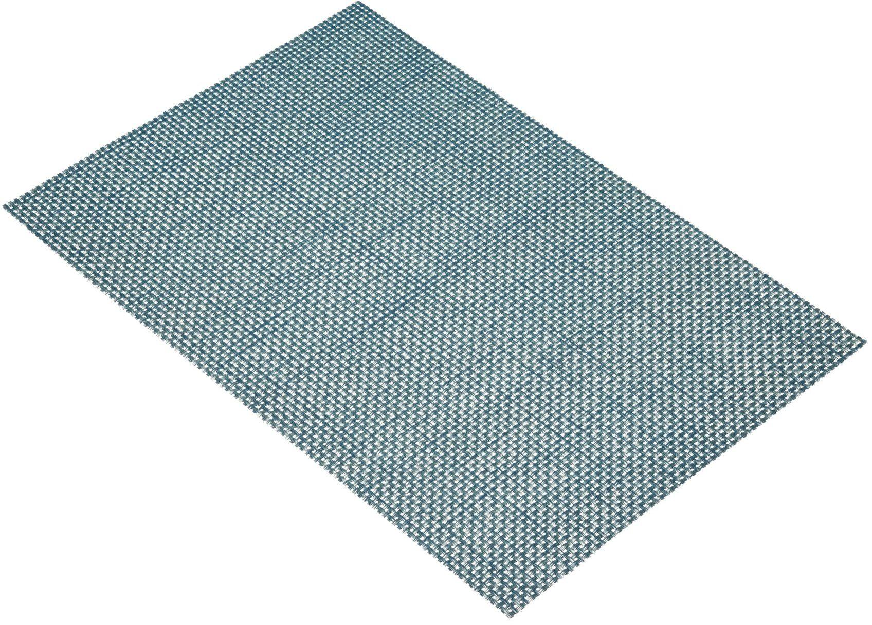 """KitchenCraft tkana podkładka winylowa, 45 x 30 cm (17,5"""" x 12"""")  mieszanka niebieska/zielona"""