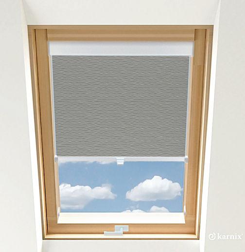 Rolety do okien dachowych BASIC BASMATI - Stalowy / Biały