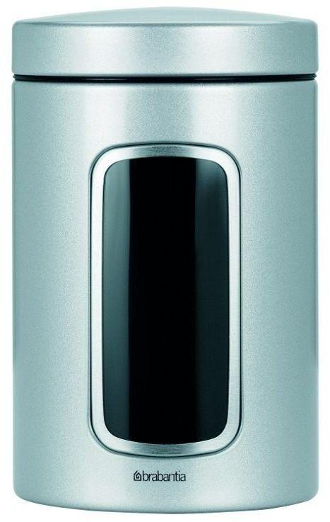 Brabantia - pojemnik z okienkiem  1.4l - metaliczny szary - szary