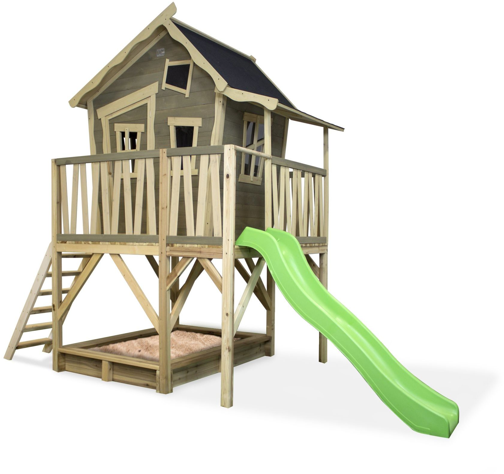 Domek cedrowy dla dzieci EXIT CROOKY 550 /szary/