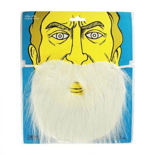Wąsy i broda, biały zarost męski
