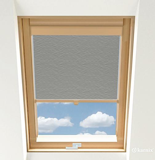 Rolety do okien dachowych BASIC BASMATI - Stalowy / Sosna