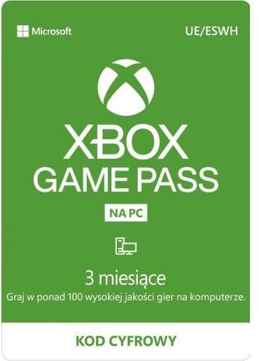 Subskrypcja Xbox Game Pass na PC (3 m-ce) Dostęp po opłaceniu zakupu