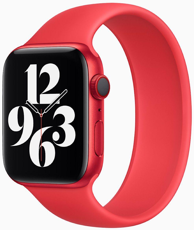 Apple Watch Series 6 44mm Czerwone aluminium z czerwonym paskiem sportowym M09C3WB/A