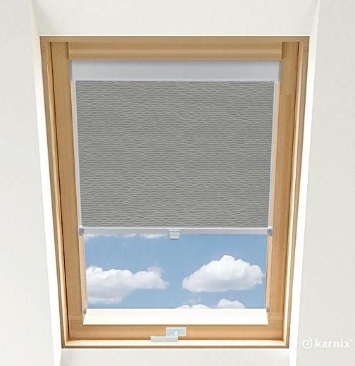 Rolety do okien dachowych - BASMATI - Stalowy / Srebrny