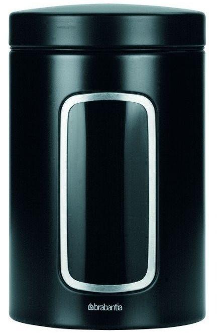 Brabantia - pojemnik z okienkiem  1.4l - czarny - czarny