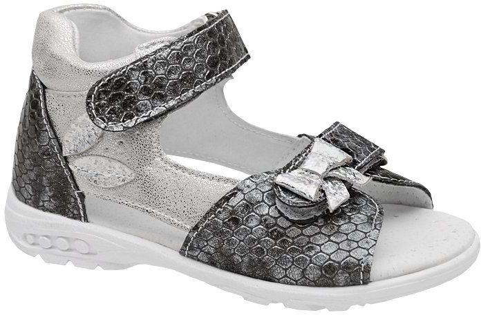 Sandałki dla dziewczynki KORNECKI 4946 Grafitowe Srebrne