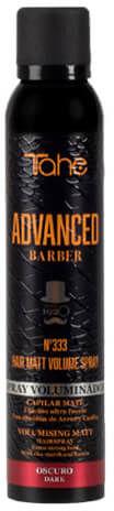 Tahe ADVANCED BARBER No.333 Hair Matt Volume Puder w sprayu nadający objętość do włosów dla mężczyzn (dark) 200ml
