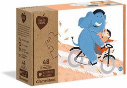 Clementoni 25252 ''Be My Pal'' 3 x 48 Pieces-Made in Italy - 100% materiały z recyklingu, puzzle dla dzieci