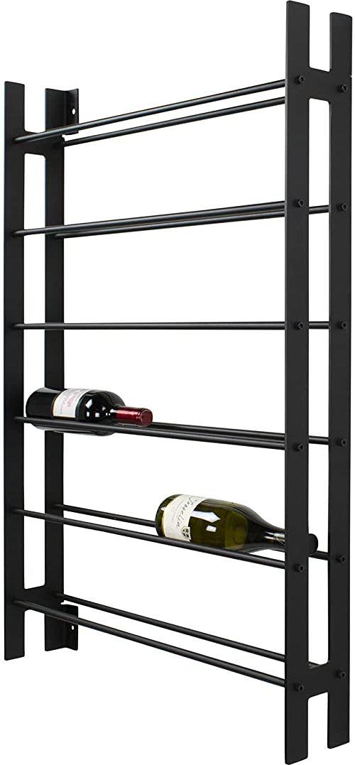 Spinder Design WR103-22 regał na wino, stal, czarny, 12,5 x 70 x 99 cm