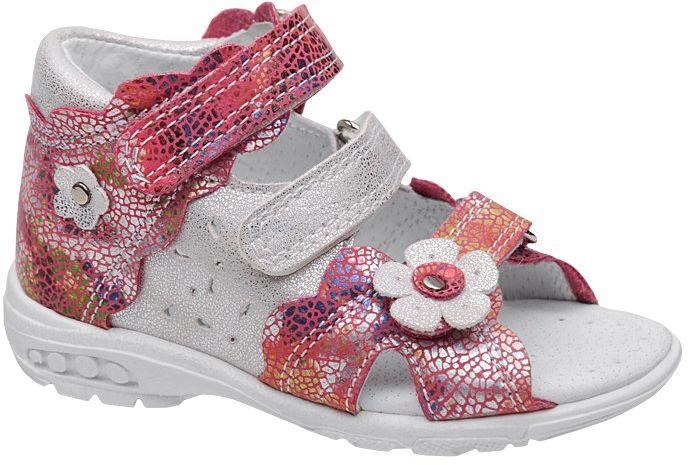 Sandałki dla dziewczynki KORNECKI 4944 Srebrne Różowe