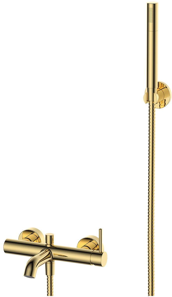 OMNIRES Bateria wannowa Y z zestawem prysznicowym, złota Y1231GL Y
