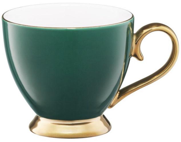 Kubek Porcelanowy Zielony Złoty 400 ml Royal Ambition
