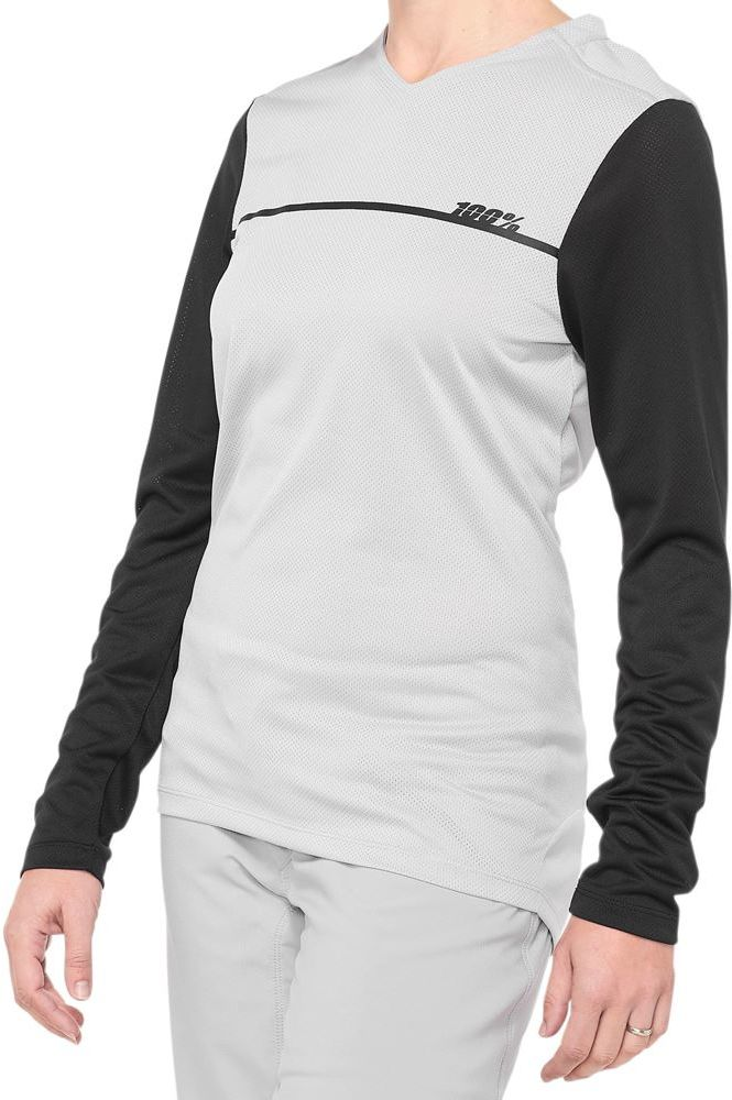 100% koszulka rowerowa damska z długim rękawem RIDECAMP grey black STO-44402-245-12 Rozmiar: S,STO-44402-245-12