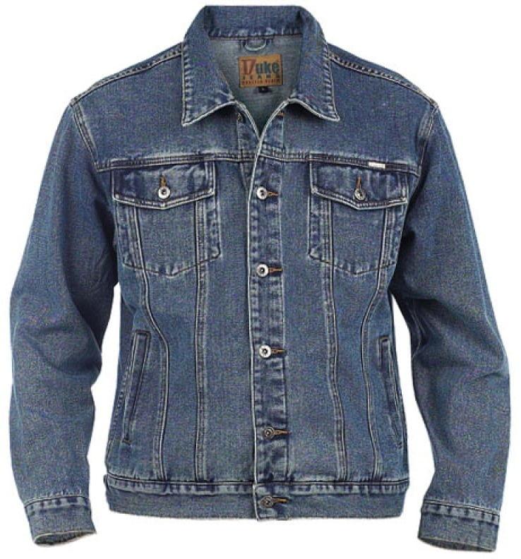Duke Trucker Kurtka Jeans Błękitna Duże Rozmiary