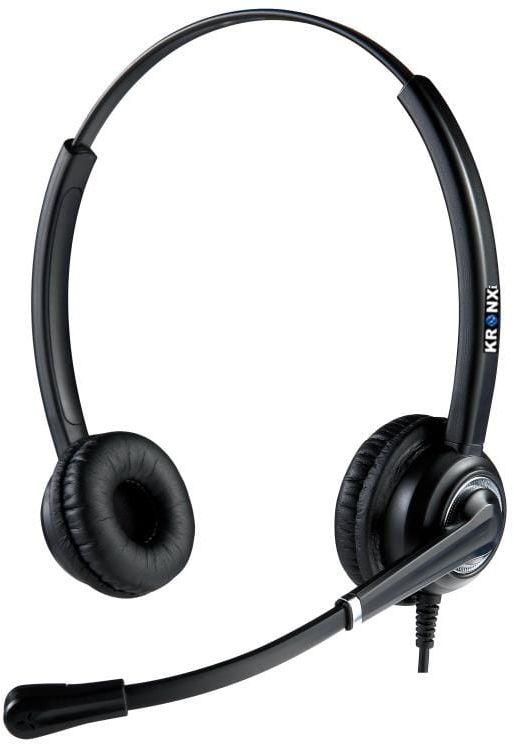 Kronx KX-6012D słuchawki przewodowe dla Call Center z reducja szumów
