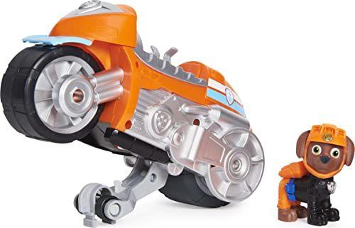 PAW Patrol 6060544 Moto Pups Zuma''s Deluxe Pull Back Motocykl z funkcją Wheelie i figurką