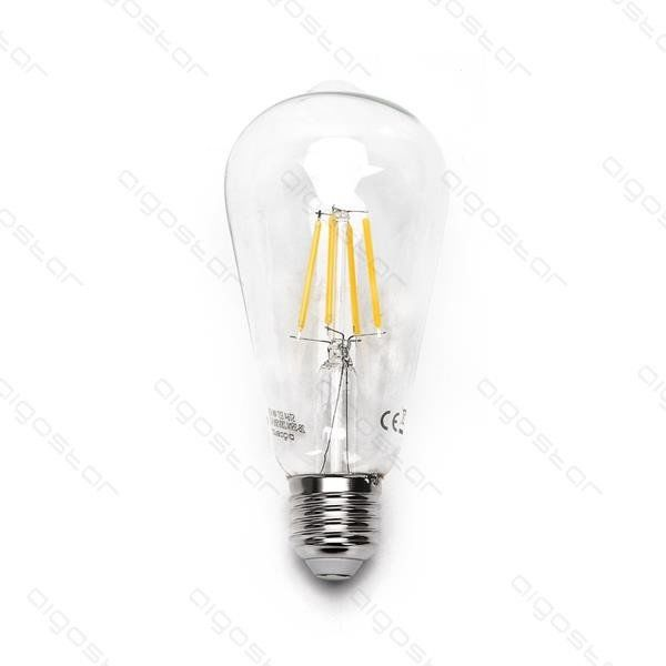 Żarówka Filament LED E27 ST64 4W zimna 6500K