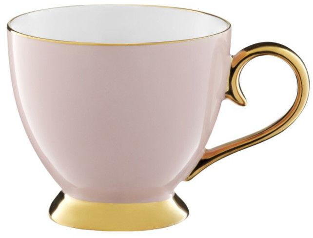 Kubek Porcelanowy Różowy Złoty 400 ml Royal Ambition