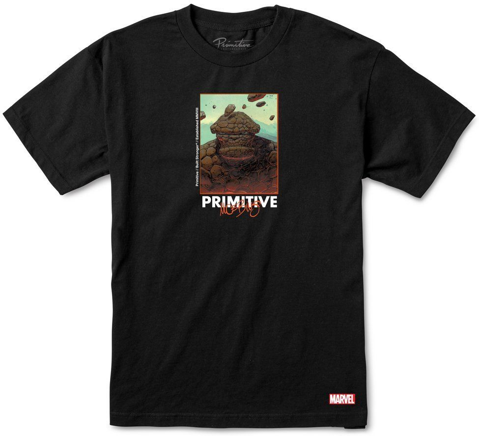 t-shirt męski PRIMITIVE (MARVEL x MOEBIUS) THING TEE Black