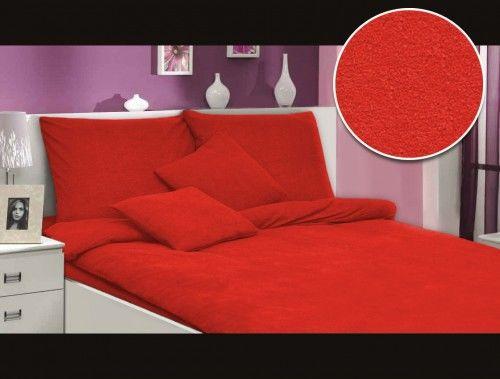 Darymex Pościel frotte czerwony 029 160x200