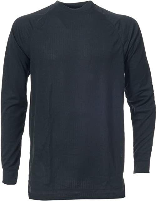 Trespass Flex360, Black X, L, szybkoschnąca koszulka z długim rękawem 170 g/m  dla dorosłych uniseks, duży, czarny