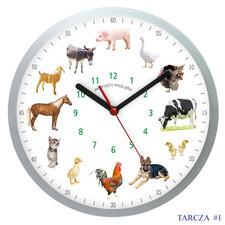 Zegar ścienny solid z głosami 12 zwierząt #1