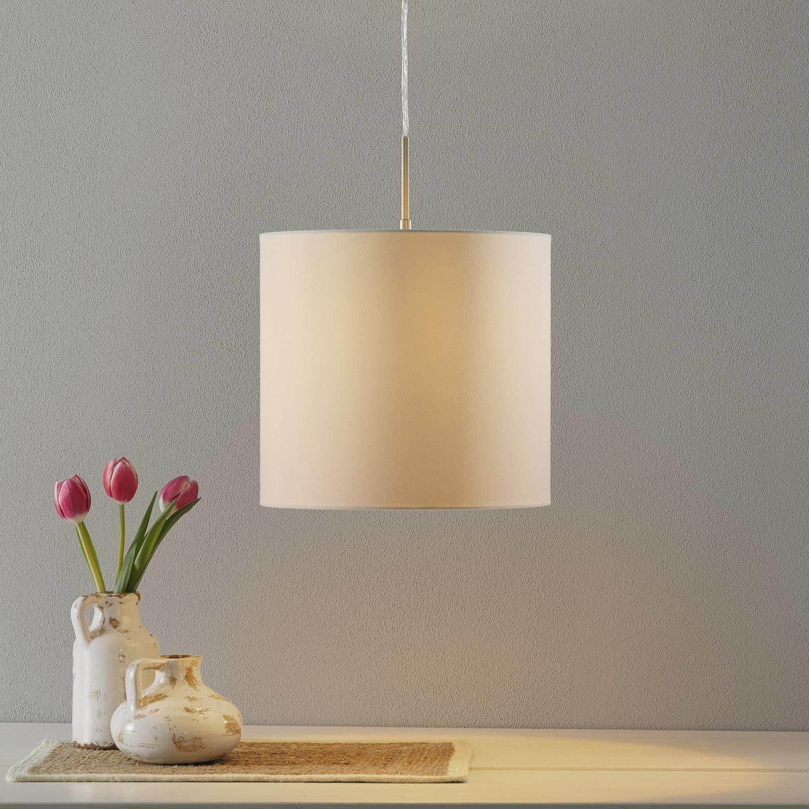 Lucande Patrik lampa wisząca Ø30cm kremowa