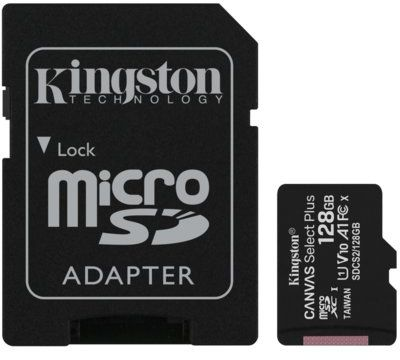 Karta pamięci KINGSTON Canvas Select Plus microSDXC 128GB + Adapter