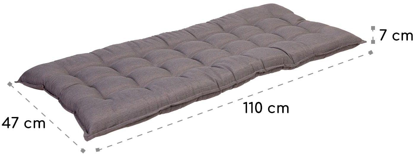 Blumfeldt Naxos, poduszka na ławkę, rdzeń piankowy, poliester strukturalny, 110 x 7 x 47 cm