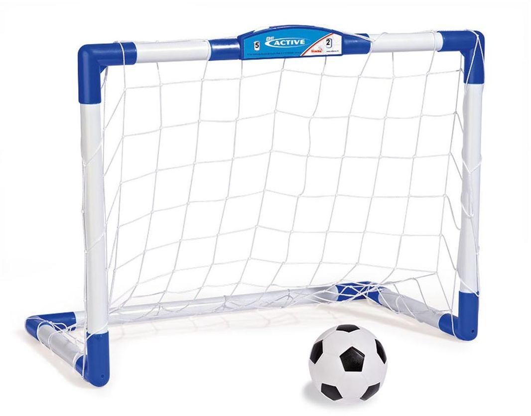 Simba 107400890 bramka do piłki nożnej dla dzieci z tablicą wyników Solidna konstrukcja z licznikiem mechanicznym plus piłką Dla dzieci w wieku od 3 lat