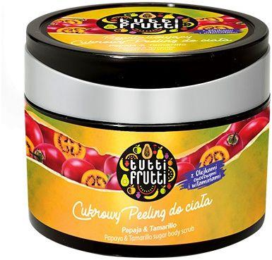 TUTTI FRUTTI Papaja & Tamarillo cukrowy peeling do ciała 300g
