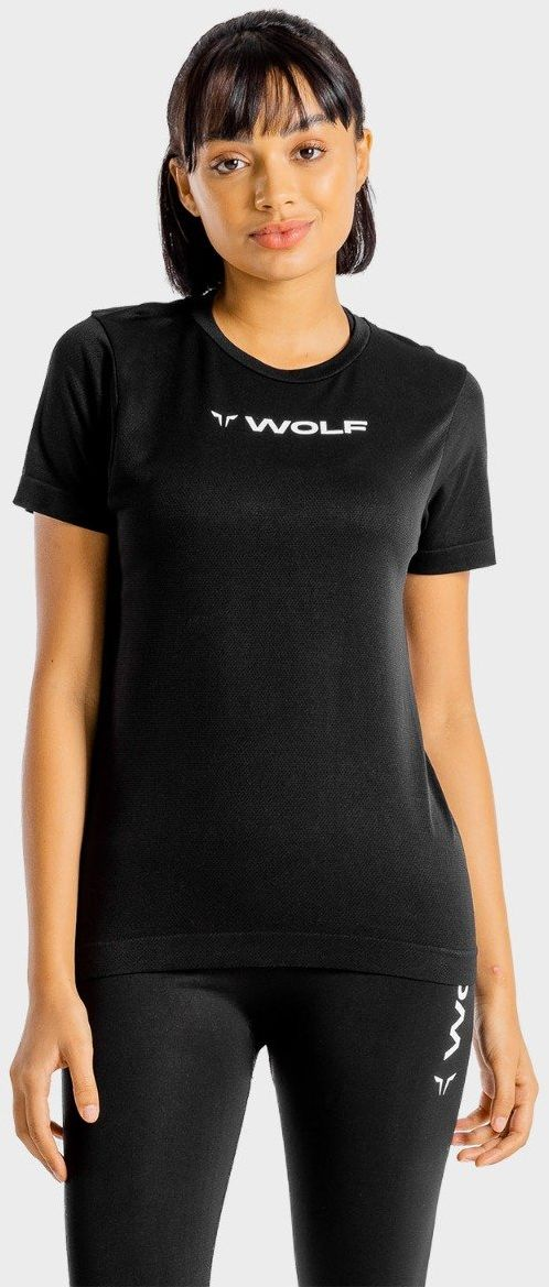 Squat Wolf Women s Primal T-Shirt Black