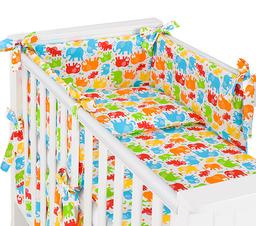 MAMO-TATO rozbieralna pościel 3-el Słonie kolorowe do łóżeczka 60x120cm