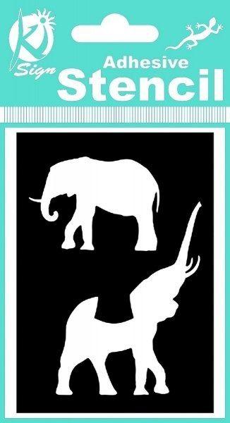 Szablony do malowania twarzy i tatuaży słonie