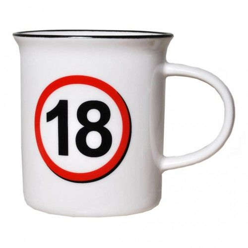 Kubek na 18 urodziny Znak