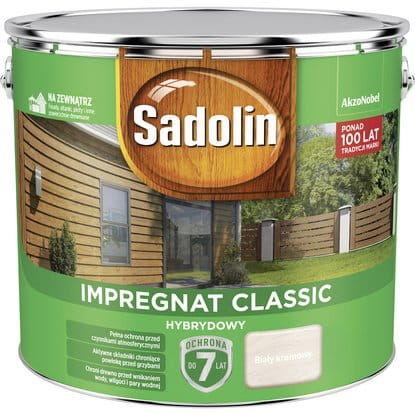 Sadolin Impregnat Classic Hybrydowy Biały Krem 9L