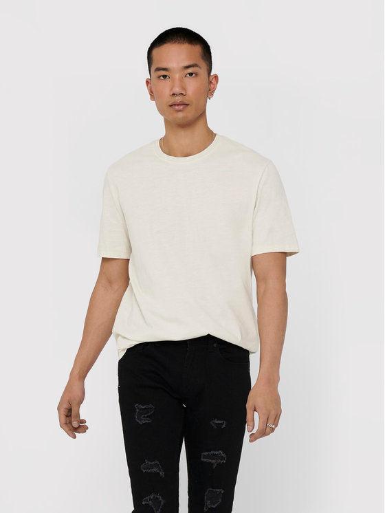 ONLY & SONS T-Shirt Millenium 22018868 Biały Regular Fit