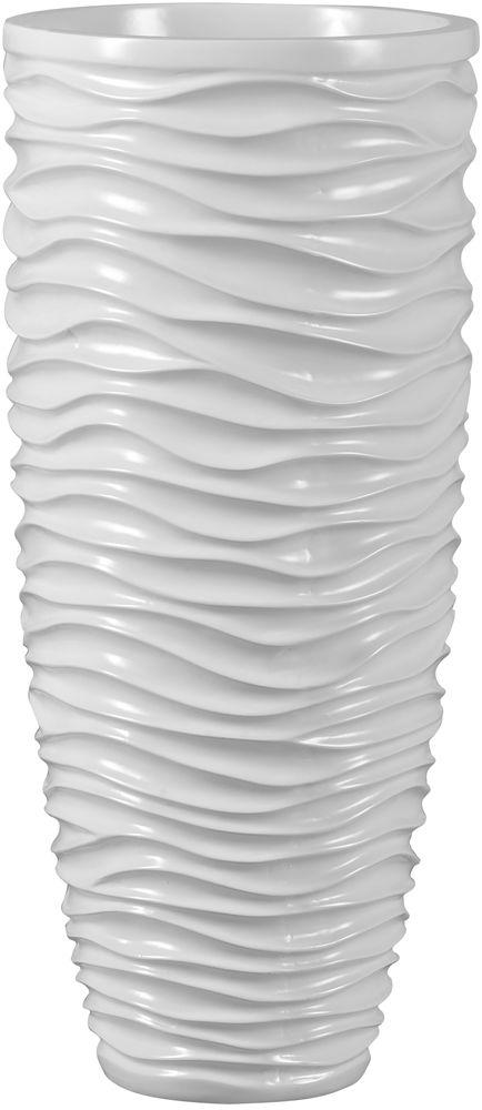 Donica z włókna szklanego D7087C biały połysk