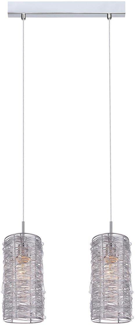 Italux lampa wisząca Linton MDM2136/2 srebrna