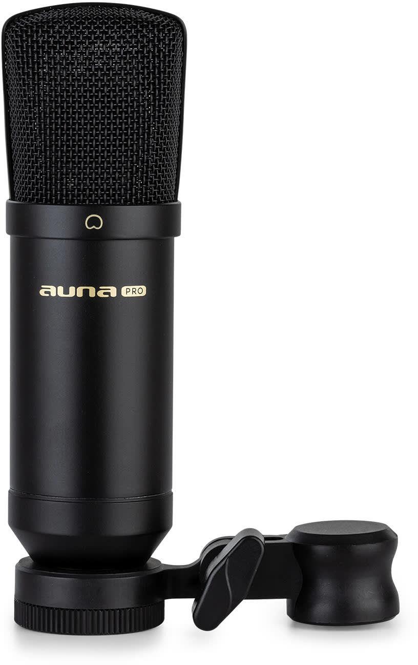 Auna Pro MIC-600, mikrofon pojemnościowy USB, wyjście słuchawkowe, Plug & Play