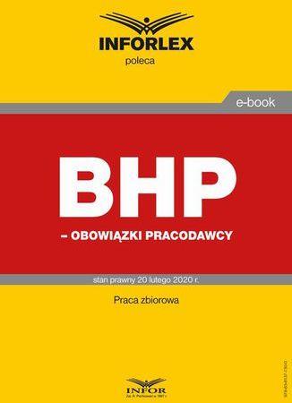 BHP obowiązki pracodawców - Ebook.