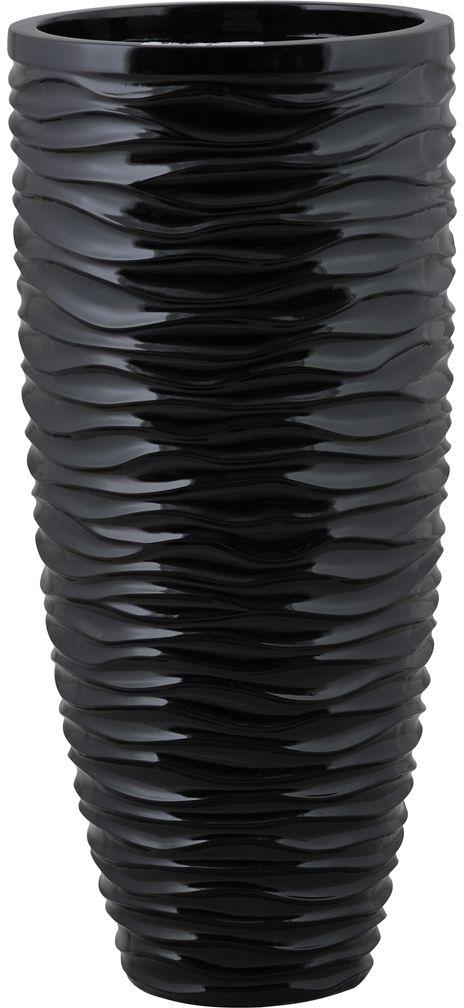 Donica z włókna szklanego D7087C czarny połysk