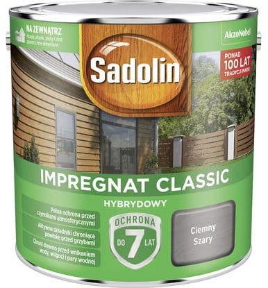 Sadolin Impregnat Classic Hybrydowy Ciemny Szary 2,5L