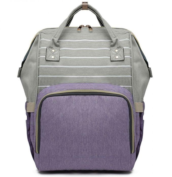 Plecak dla mamy w paski wrzos DIAPER KN61