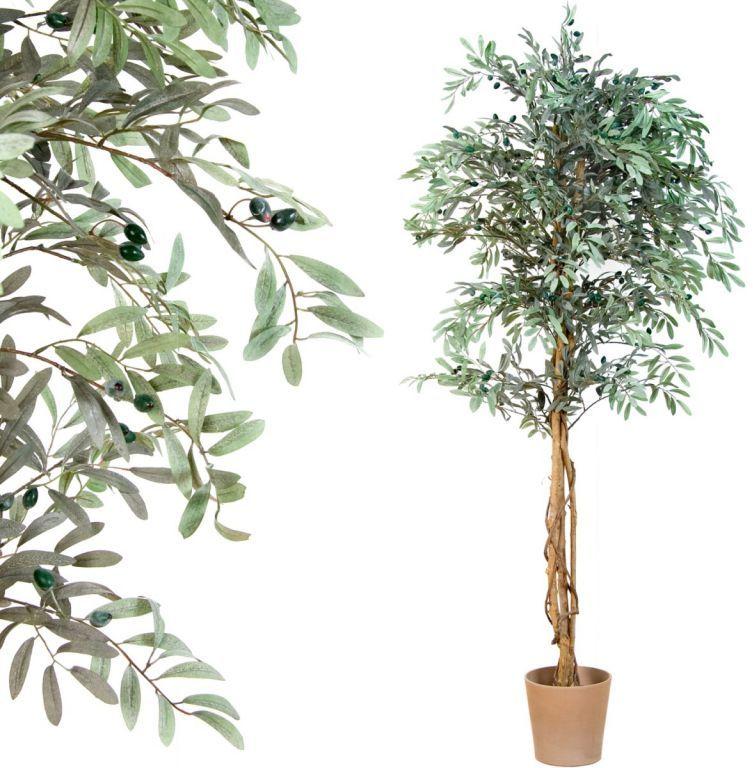 Drzewko sztuczne dekoracyjne - oliwne z oliwkami 180 cm